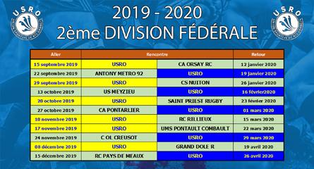 Calendrier Federale 2 2020 2019.Calendrier Federale 2 2019 2020 Usro Rugby